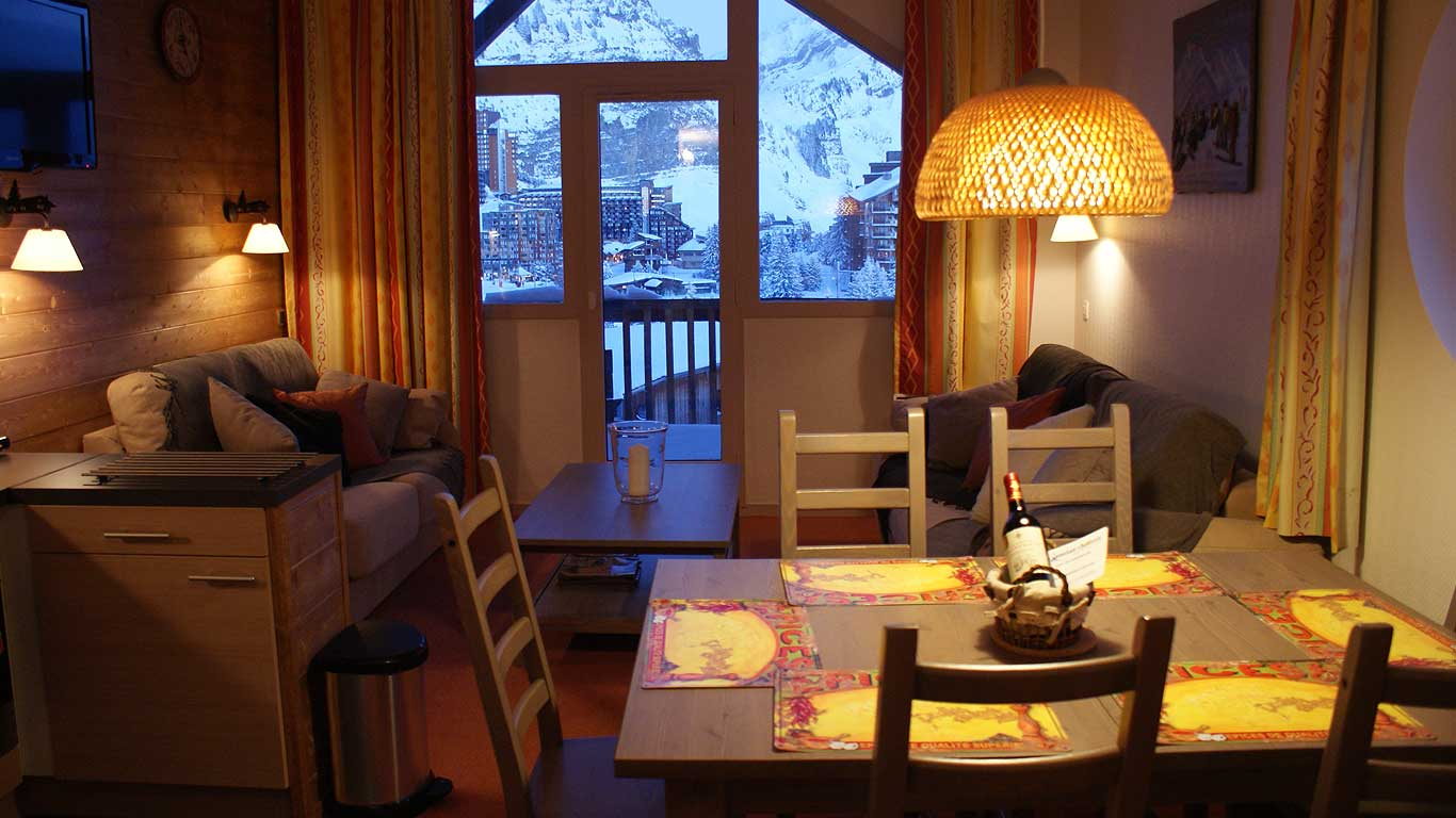 Views of Avoriaz from inside Chalet