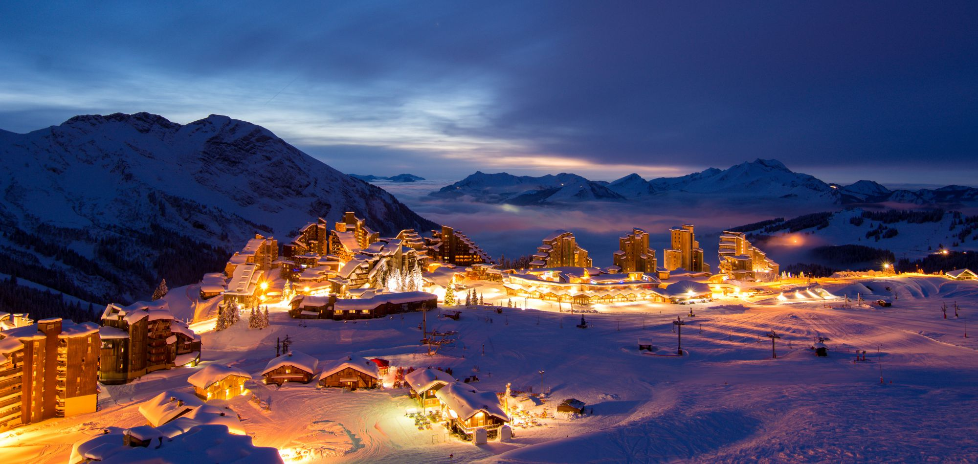 Avoriaz night skiing (photo courtesy of Avoriaz Tourist Office)